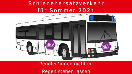 Schienenersatzverkehr für Sommer 2021